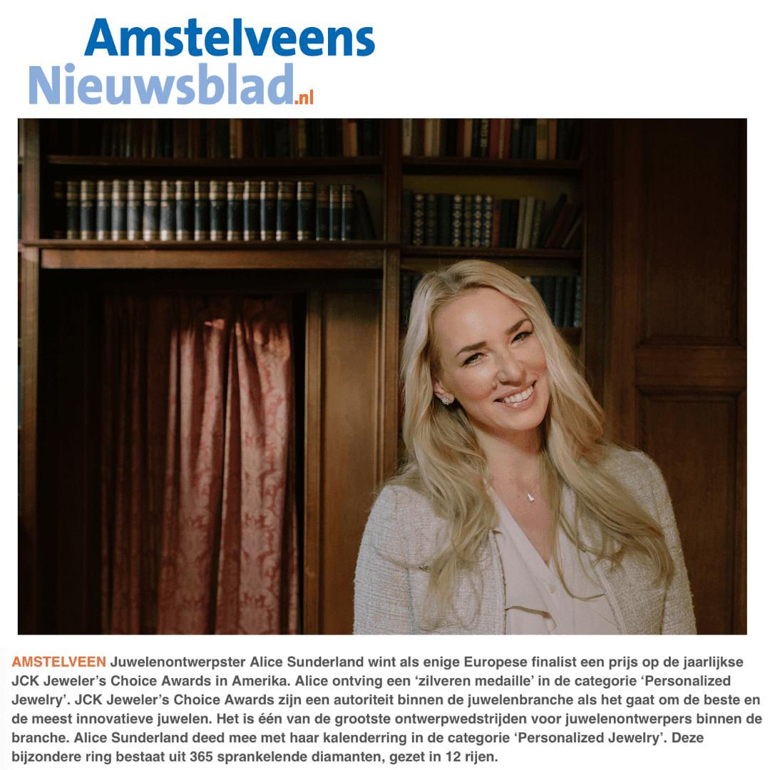 Amstelveens nieuwsblad Alice Sunderland